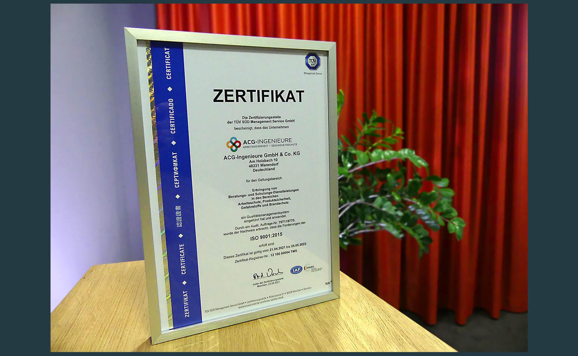 Wir präsentieren das neue Zertifikat für die erfolgreiche Zertifizierung nach ISO 9001:2015
